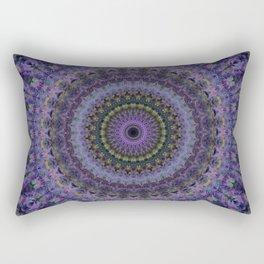 Floral mandala in violet and purple tones Rectangular Pillow