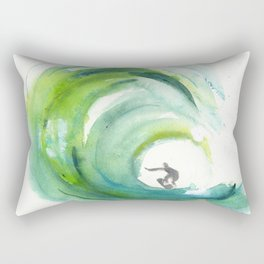Wave with Surfer Rectangular Pillow