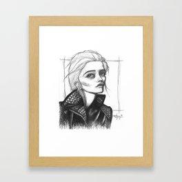 Heavy Metal Heart Framed Art Print