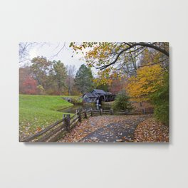 Mabry Mill In Autumn Metal Print