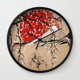 Japan Fishermen Wall Clock