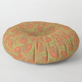 Meredith Paisley - Light Olive Green Floor Pillow