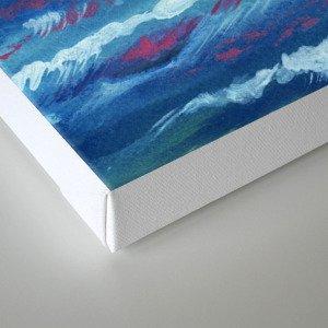 Sea Storm Oil Canvas Canvas Print