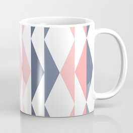 Triangle Pattern in Blush and Slate Coffee Mug