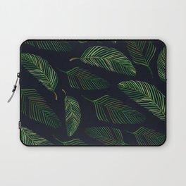 Tropical Leaves in Storm Laptop Sleeve