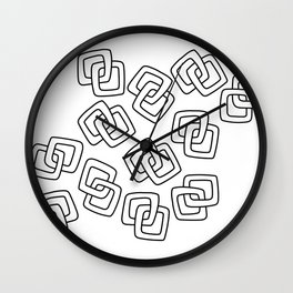 Chain Link Art Black and White Wall Clock