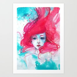 Princess Ariel - Little Mermaid has no tears Art Print