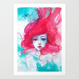 Princess Ariel - Little Mermaid has no tears Art Print