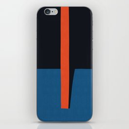 Blue and red composition XVI iPhone Skin