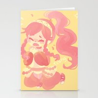 charmaine olivia Stationery Cards featuring Olivia by tcong