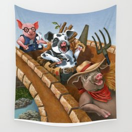 The Three Pigs Wall Tapestry