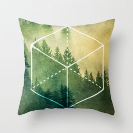 The Elements Geometric Nature Element of Earth Throw Pillow