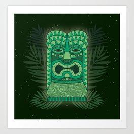 Tiki Mean Art Print