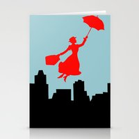 mary poppins Stationery Cards featuring Mary Poppins  by Sammycrafts