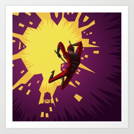 Daredevil Jump Art Print
