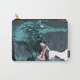Woman Wolf wandering Carry-All Pouch