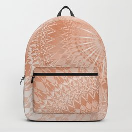 Rose Gold Geometric Mandala Backpack