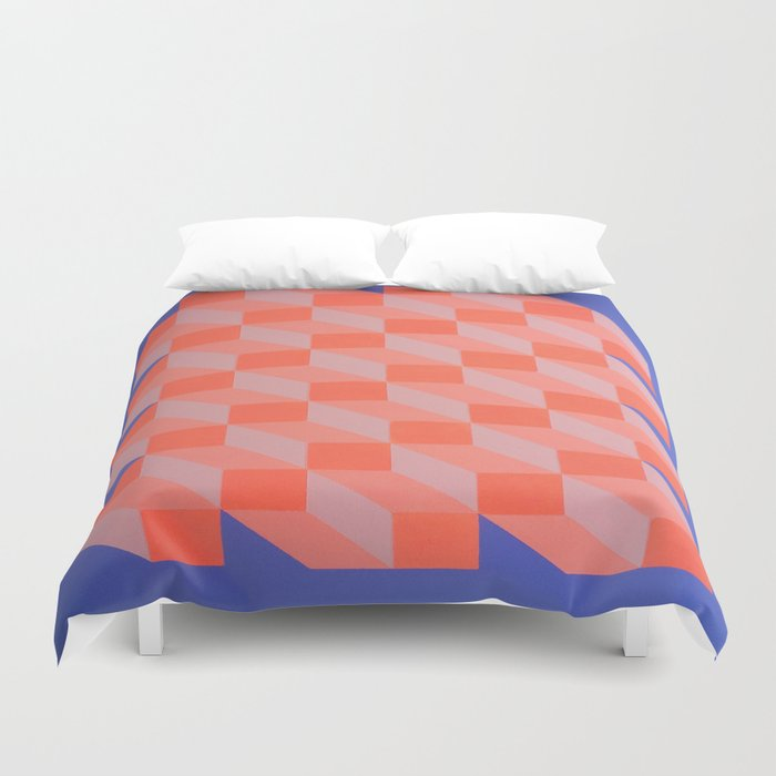 Geometric Design - By Dominic Joyce Duvet Cover