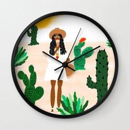 Ice Cream in the Desert Wall Clock