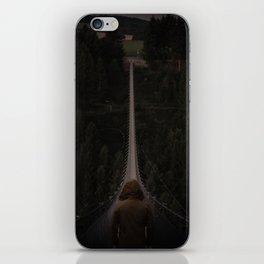 Hanging bridge over forest iPhone Skin