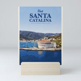 Visit Santa Catalina Mini Art Print