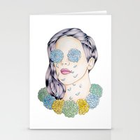 ellie goulding Stationery Cards featuring ELLIE GOULDING  by Aidan Reece Cawrey