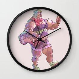 Bara Bear Purple Wall Clock