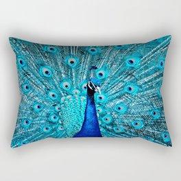 Peacock  Blue 11 Rectangular Pillow