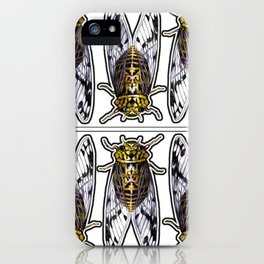 Amber Cicadas iPhone Case