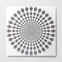 Skulls in Circles Metal Print