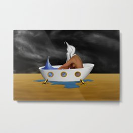 Day Dreaming Bath Metal Print