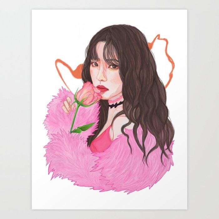 Irene Red Velvet Bad Boy Art Print By Kurisuart Society6