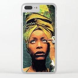 Erykah Badu Clear iPhone Case