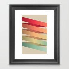 Colorful Ribbon Framed Art Print