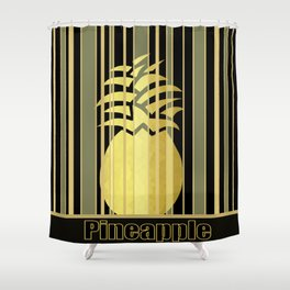 Pineapple Glam Shower Curtain