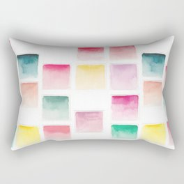 Summer Paint Chips Flat Lay Photograph Rectangular Pillow
