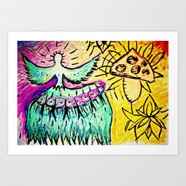 Psyhedelic Angel Art Print