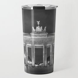 BERLIN Brandenburg Gate | monochrome Travel Mug