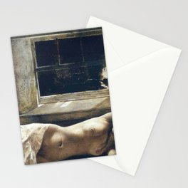 'Overflow,' Female Nude Portrait painting by Andrew Wyeth Stationery Cards