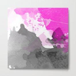Pink Neon Watercolor Metal Print