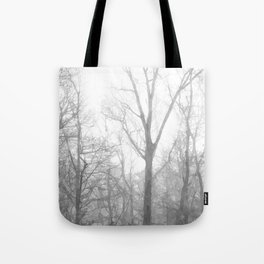 Black and White Forest Illustration Tote Bag