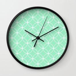 Crossing Circles - Mint Wall Clock