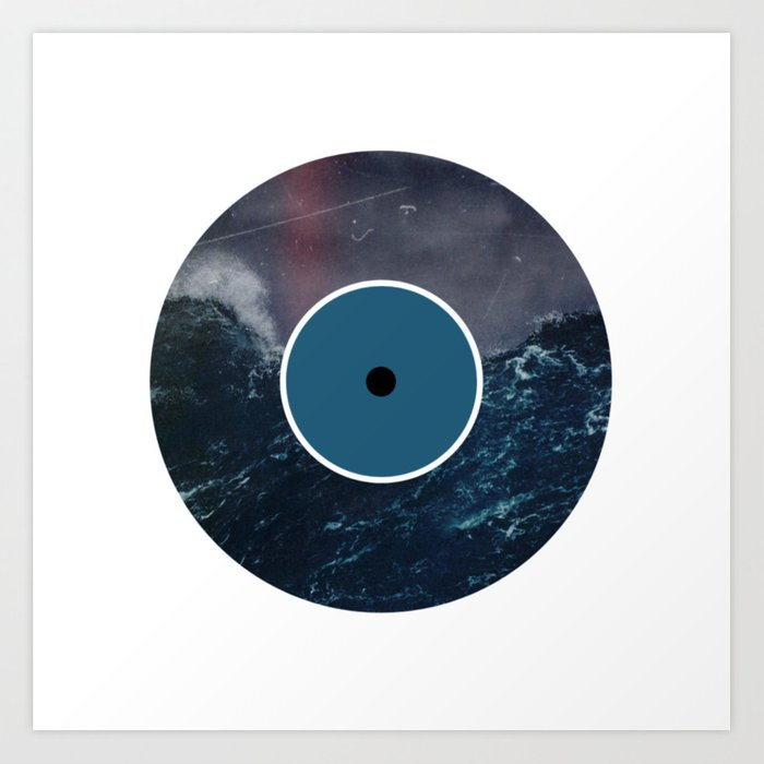 Vinyl Record Art & Design | Stormy Ocean Art Print