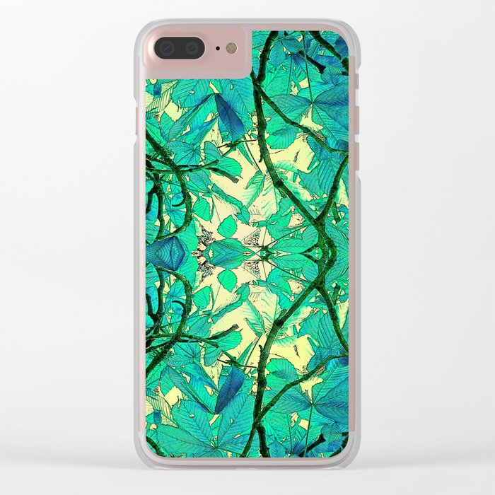 CHESTNUT FOLIAGE FANTASY ABSTRACT Clear iPhone Case