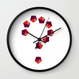 Do U like pentagons? Wall Clock