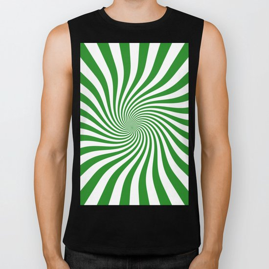Swirl (Forest Green/White) Biker Tank