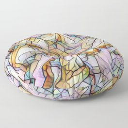 Pastel abstract Floor Pillow