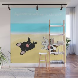 Frenchies Rolling In The Sand Wall Mural