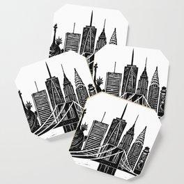 Linocut New York Coaster
