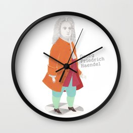 Georg Friedrich Haendel Wall Clock